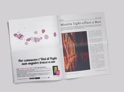 Le Strade del Vino Puglia - Adv su giornale