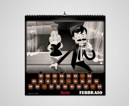 Rosito Calendario 2016 Febbraio